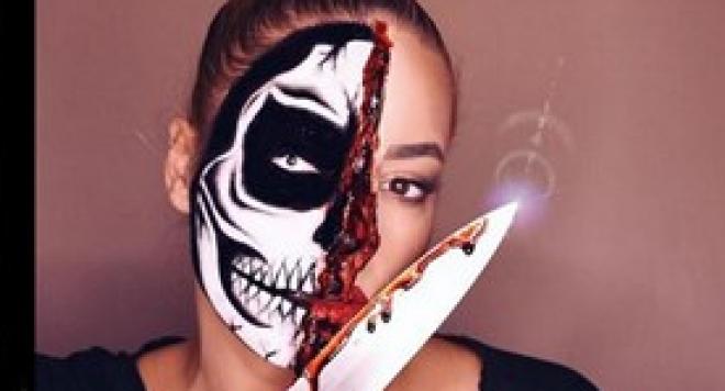 Жената на Джаферович готова за  Хелоуин