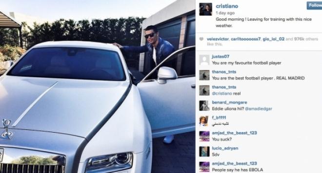 Роналдо се фука с Ролс Ройс, струващ 450 хиляди евро