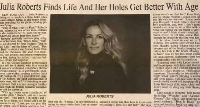 Дупките на Джулия Робъртс  станаха за смях в цял свят