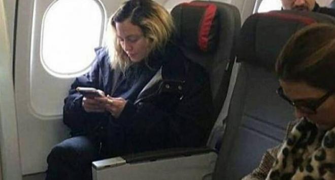 Възможно е: Мадона до теб в самолета!