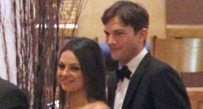 Появиха се снимки от сватбата на  Мила Кунис и Аштън Къчър