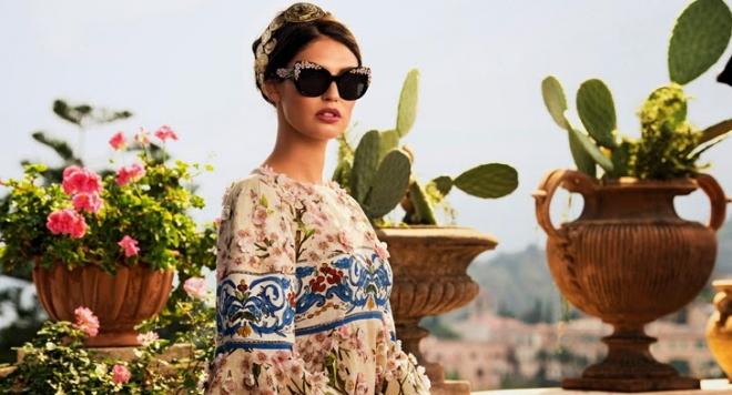 Долче и Габана вкараха цветята на Сицилия в линия очила