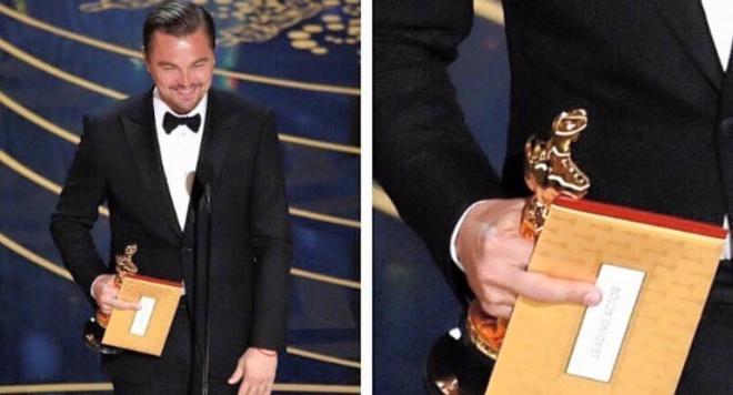 """Лео поля """"Оскара"""" с """"Меча кръв"""" и показа среден пръст на Академията (още за шантавите реакциите на феновете + видео, снимки)"""