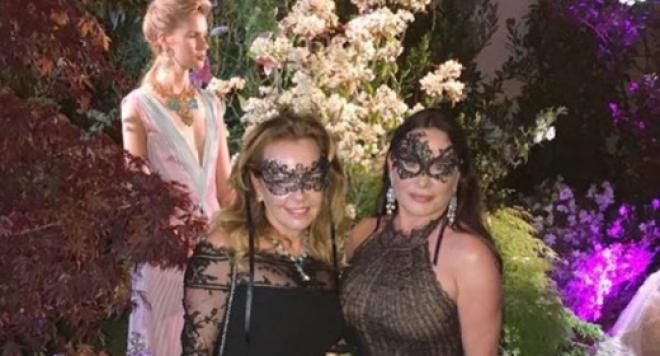 Дарина Павлова на парти с Ирина Шейк и  Деми Мур в Кан