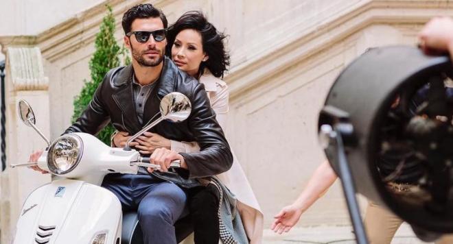 Мариан Кюрпанов в реклама с холивудската звезда Луси Лиу (Снимки)