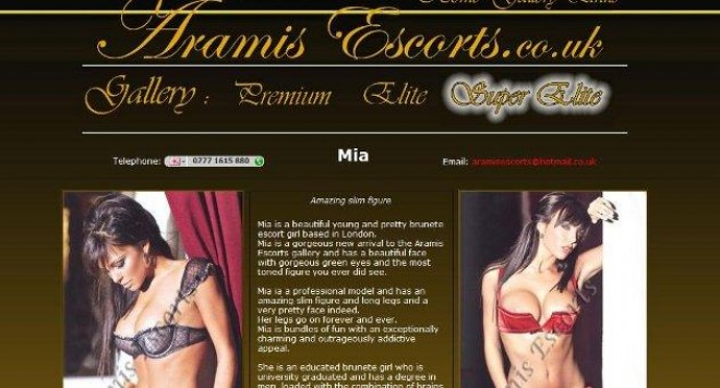 Aramis escorts london