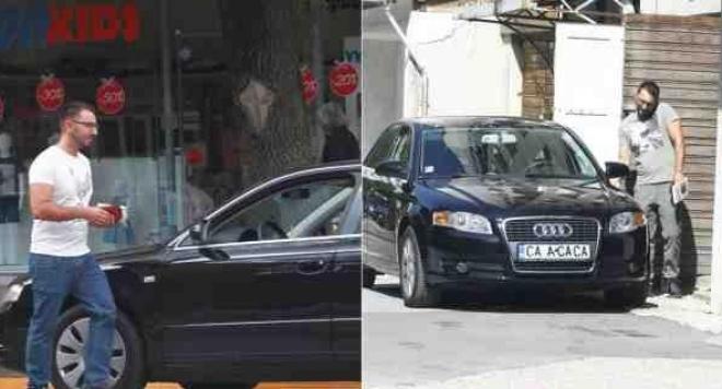 Хекимян с ауди и нова панелка - водещият гази законите и паркира на пешеходна пътека (Папарашки снимки)