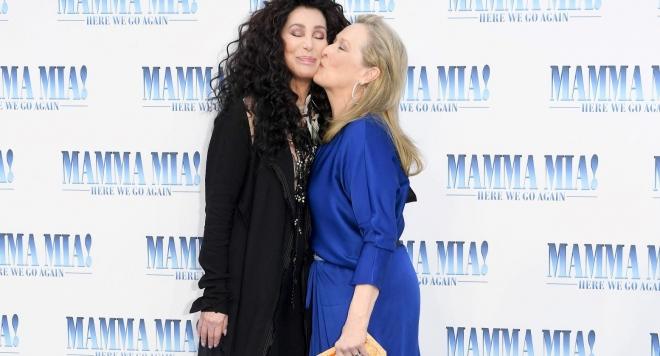 Шер и Мерил Стрип - звездите на Mamma Mia  - 2