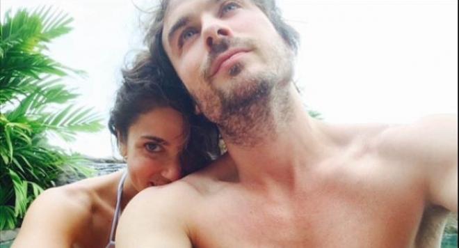 Иън Сомърхолдър сподели снимка от медения си месец