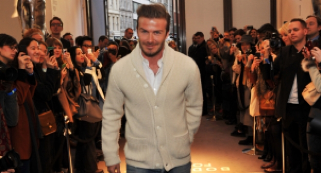 Бекъм отпразнува пускането на David Beckham for H&M в Лондон