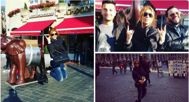 Анелия и DJ Живко Микс на разходка в Брюксел