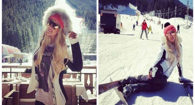 Андреа на ски в Банско