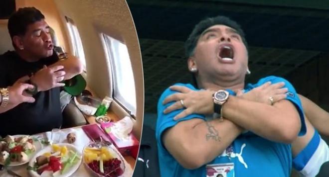 Марадона се лекува с текила и сьомга