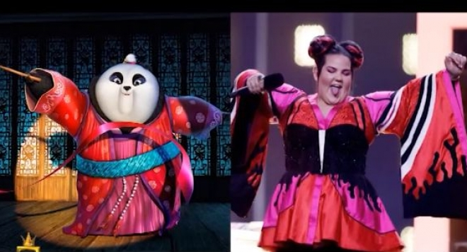 "Сравниха  израелката, спечелила ""Евровизия 2018"" с анимационен герой"