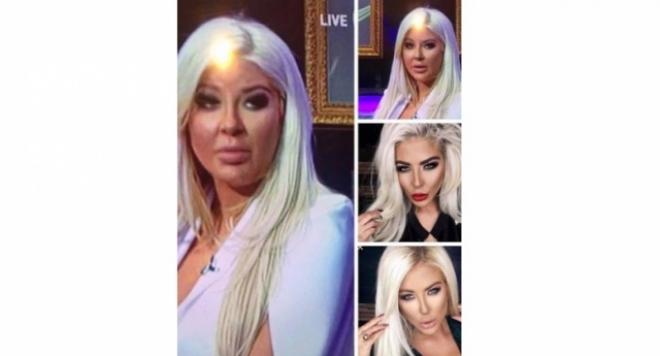 Припомняме, че блондинката с големи силиконови възможности се появи в