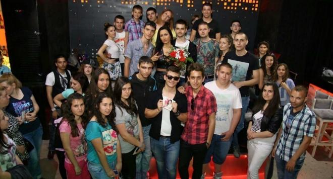 Джена с фен клуб в Пловдив