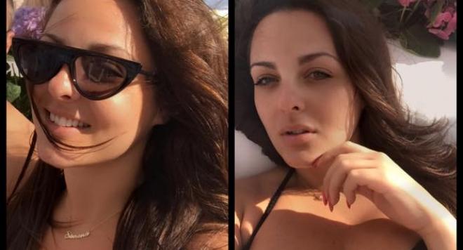 Щерката на Глория изпоти мрежата със секси форми от плажа (ГОРЕЩИ СНИМКИ)