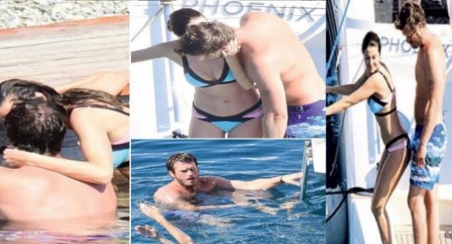 Щракнаха Къванч Татлъту да мърсува на яхта (Скандални снимки)