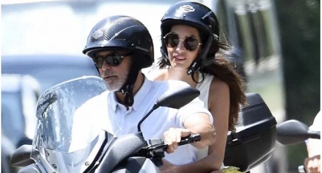 Джордж Клуни в ужасяваща катастрофа с мотоциклета си